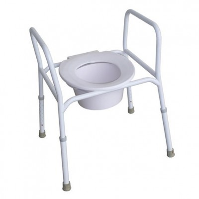 Over Toilet Aid with Splash Guard Steel